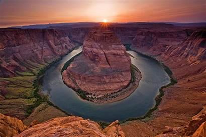 Canyon Grand Sunset Arizona Wallpapers Wide Horseshoe