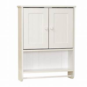 Tuscany white bethany wall cabinet at menardsr for Menards bathroom wall cabinets