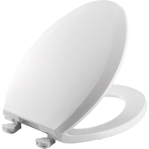 BEMIS Elongated Closed Front Toilet Seat in White-1100EC ...