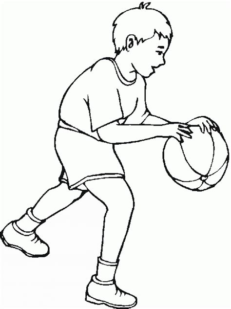 basketball coloring pages