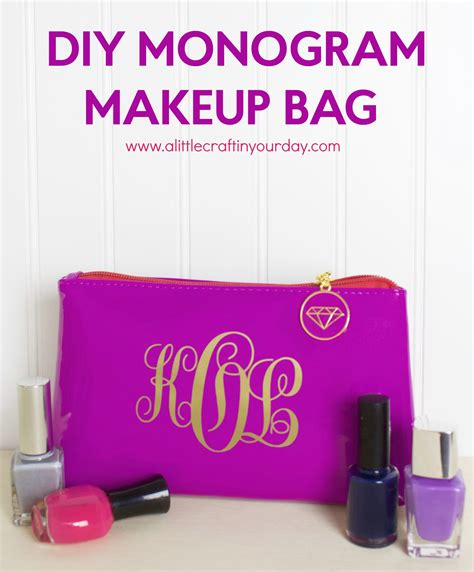 diy monogram makeup bag   craft   day