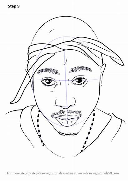 2pac Draw Step Drawing Rappers Tutorials Tutorial
