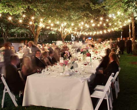 wedding dinner outdoor wedding lighting honored occasions