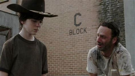 Walking Dead Rick And Carl Meme - chandler riggs mom addresses rumors he s leaving the walking dead