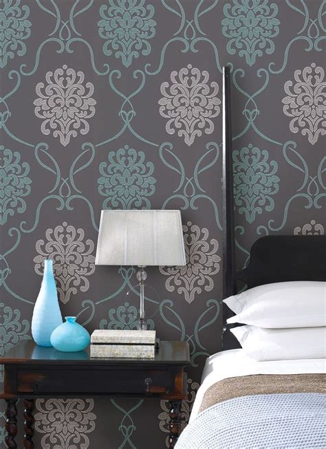 blue bedroom wall ideas walls decorating wallpaper turquoise blue and with bedroom decor idea with a feature