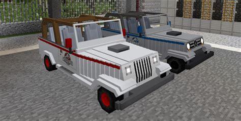 minecraft jeep wrangler jurassic craft add on