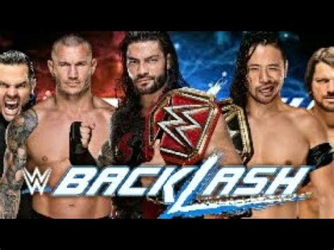 We did not find results for: WWE BACKLASH 2018 MATCH CARD / RAW AND SMACKDOWN MATCHES ...