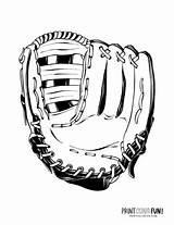 Baseball Coloring Hats Pages Mitt Gear Batter Helmet sketch template