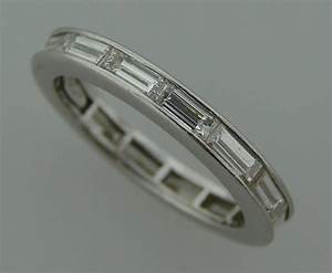 harry winston baguette diamond platinum wedding band ring With wedding rings with baguette diamonds