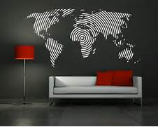 Wall Stickers Decoration Artistic Wall Decal Vinyl Sticker Home Decor Modern Art Mural Big World Map