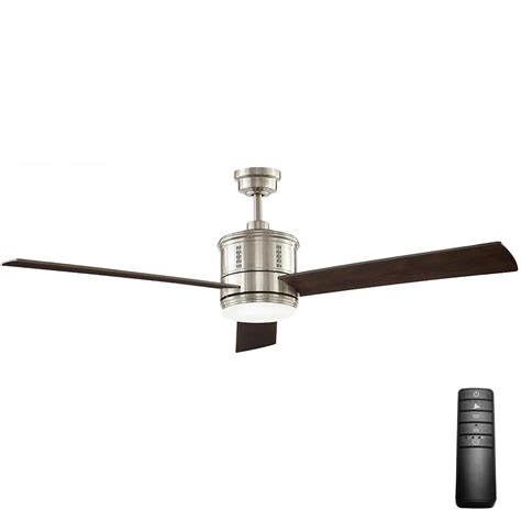 hunter channing ceiling fan hunter channing in led indoor brushed nickel ceiling fan