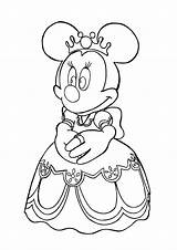 Minnie Mouse Coloring Pages Princess Pdf Printable Colouring Getcolorings Camping sketch template