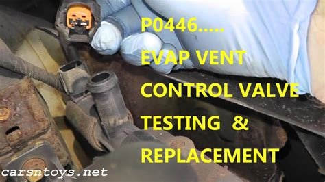 test  replace evap canister vent control valve
