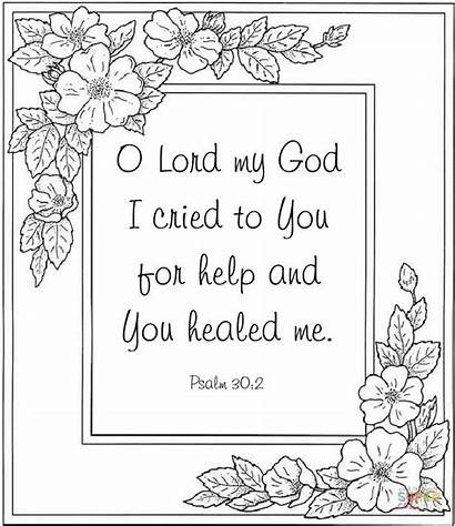Coloring Pages Bible Psalm Cool Scripture Sunday