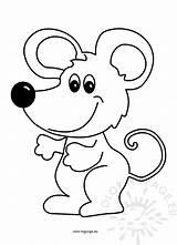 Mouse Cartoon Cute Illustration Vector Coloring Animal Coloringpage sketch template
