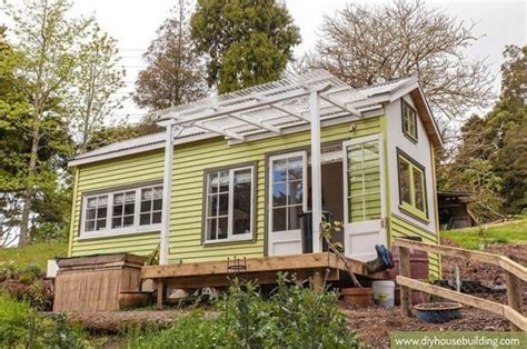 diy small house young family s diy tiny house on wheels