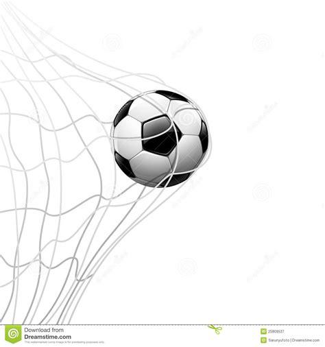 soccer ball  net background stock illustration