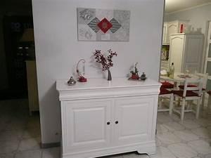 buffet repeint en blanc photo 1 1 3502396 With meuble repeint en blanc