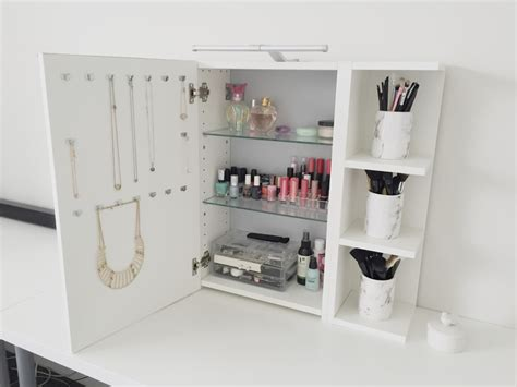 use ikea lillången mirror cabinet as a vanity mirror with storage ikea hackers ikea hackers