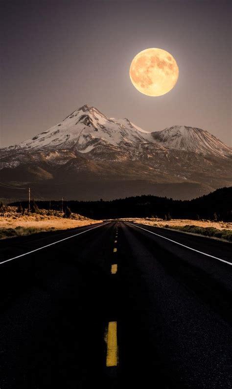 california usa road trips moon sunset sunrise luna