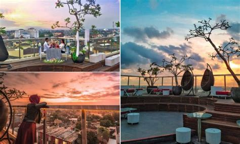 menikmati keindahan sunset  tengah malioboro rooftop