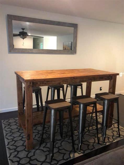 farmhouse style bar table san diego ana white