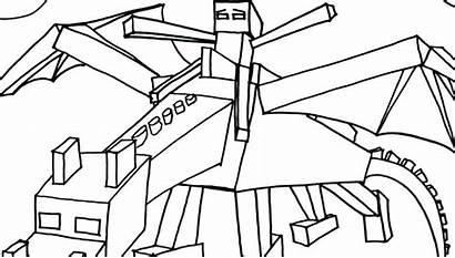 Minecraft Coloring Pages Printable Dragon Herobrine Ender