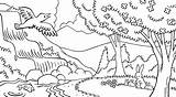 Coloring Nature Gambar Mewarnai Scene Stream Forest Line Animals Lds Scenes Water Waterfall Pemandangan Birds Doodle Library Fish Drawing Animal sketch template