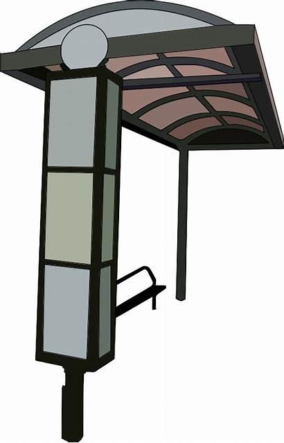 Bus Stop Clipart Clip Station Transparent Trace