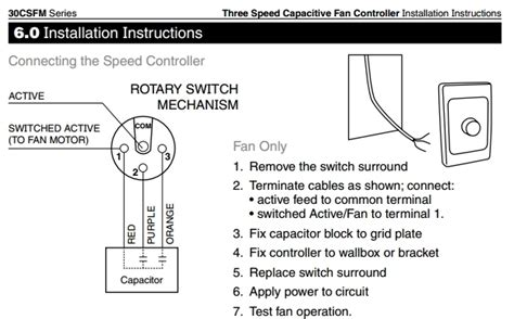 Speed Ceiling Fan Motor Wiring Diagram Fuse Box