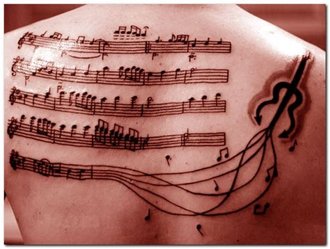amazing tattoos inspired by music sheet music tattoo com