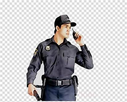 Security Police Clipart Cartoon Officer India Svg
