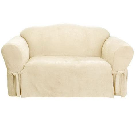 box cushion sofa slipcover sure fit soft suede box cushion sofa slipcover page 1