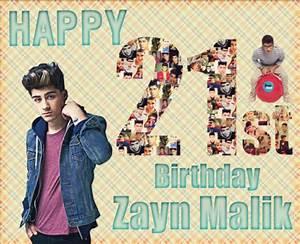 Zayn Malik 21'st Birthday by erknkml on DeviantArt