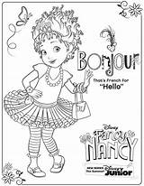 Nancy Fancy Coloring Pages Disney Activity Junior Printable Sheet Printables Bonjour Clancy Sheets Party Characters 20th Books Volume Coming Dvd sketch template