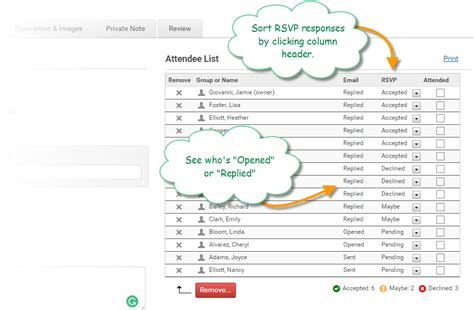 Rsvp Template For Event by Invites Reminders With Rsvp
