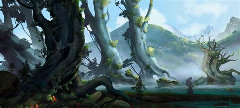 Stephan Bored, Fantasy Art, Landscape, Trees, Better World ...