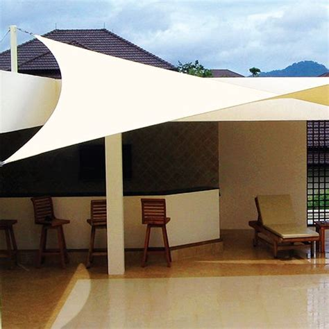 15 x 12 x 9 triangle shade sail with diy accessory kit