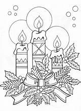 Colouring Coloring Candle Printable Candles Sheets Drawing Navidad Dibujos Weihnachten Natal Malvorlagen Adult Bordado Pintura Coloriage Ausmalbilder Colorier Tela Arrangement sketch template