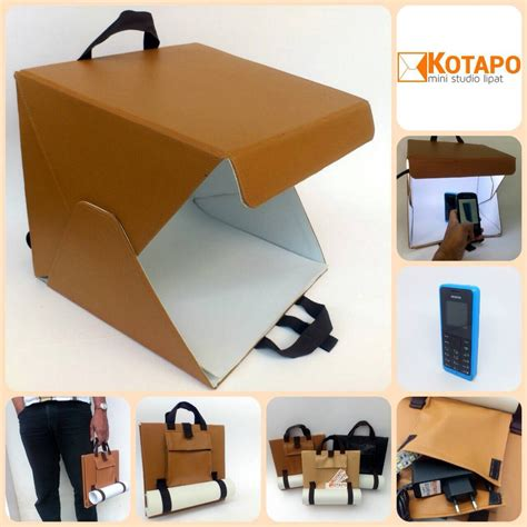 jual mini studio photo box portable lampu led  lapak