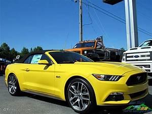 2017 Triple Yellow Ford Mustang GT Premium Convertible #121245784 Photo #10 | GTCarLot.com - Car ...