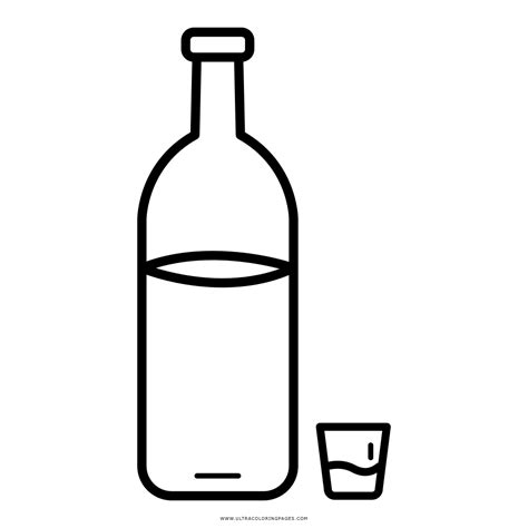 Coloring Vodka by Water Bottle Coloring Page Free Best Water