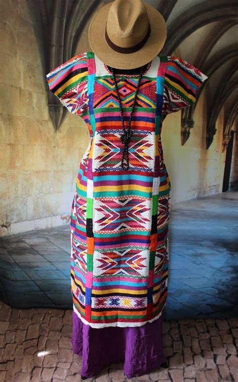 colorful traditional san felipe usila huipil hand woven