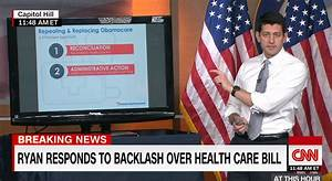 Paul Ryan gives PowerPoint presentation on GOP Obamacare ...