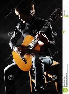 Acoustic Guitar Player On The Concert Stock Photo - Image ...