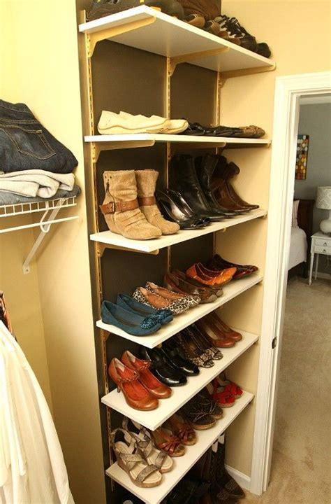 1000 ideas about shoe shelves on closet shoe