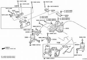 Toyota Avalon Bracket  Engine Mounting Control For
