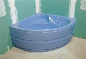Comment Installer Une Baignoire : installer une baignoire d 39 angle avec un tablier int gr ~ Dailycaller-alerts.com Idées de Décoration