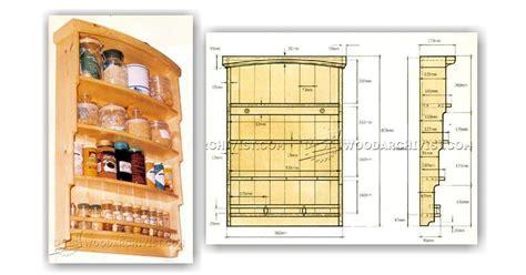 Spice Rack Woodworking Plans by Spice Rack Plans Woodarchivist