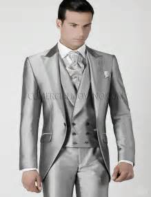mens tuxedos for weddings mens wedding suits 2017 silver grey prom tuxedos jacket vest custom made wedding tuxedos
